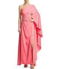 cosette one-shoulder cutout dress