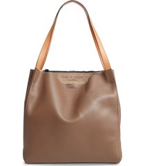 rag & bone passenger leather tote - grey