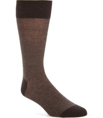 men's cole haan pique texture crew socks, size one size - brown