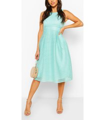 panelled frill skirt skater dress, mint