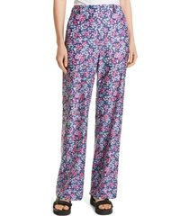 women's sea lissa liberty wide leg pants, size 2 - pink