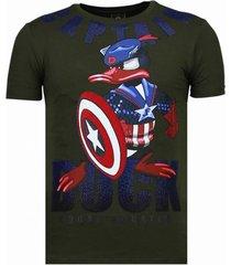 captain duck - rhinestone t-shirt