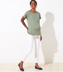 loft maternity modern skinny jeans in white