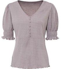 maglia con inserti smock (rosa) - bodyflirt