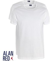 alan red 4-pack t-shirts derby ronde hals wit