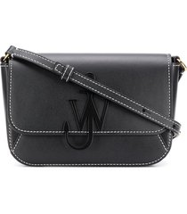 jw anderson mini anchor crossbody bag - black