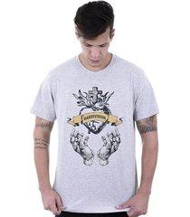 camiseta hardivision coração sagrado manga curta