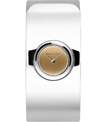 rebecca minkoff women's hooked stainless steel bangle bracelet watch 18mm