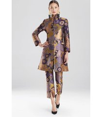 floral patchwork jacket, women's, purple, size 4, josie natori