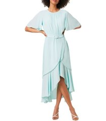 french connection emina draped belted maxi dress