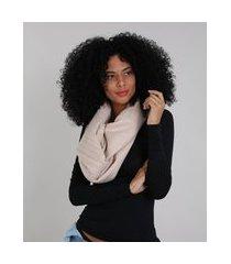 lenço feminino plissado com brilho rosê