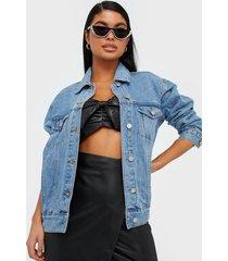 missguided oversized denim jacket jeansjackor