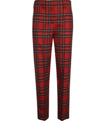 balmain printed long trousers
