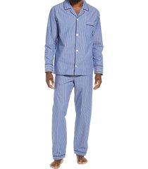 men's majestic international men's rosy outlook pajamas, size x-large - blue