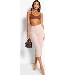 tall tailored woven culottes, stone