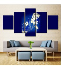 5 pcs los angeles dodgers hand gloves canvas prints painting wall art home decor
