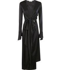 lanvin long twisted detail dress