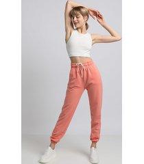 spodnie typu joggers- koralowy(la-053)