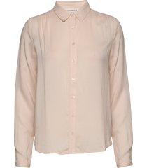 shirt ls overhemd met lange mouwen roze rosemunde