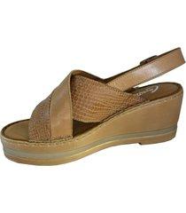 sandalia marrón cavatini padova