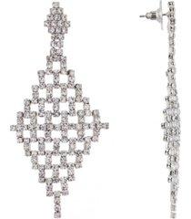 nina rhinestone mesh chandelier earring