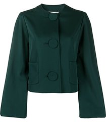 lanvin cropped bell sleeve jacket - green