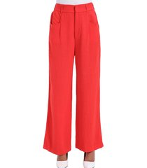 pantalón ancho cómodo rojo nicopoly