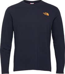 m l/s graphic tee t-shirts long-sleeved blå the north face