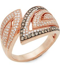 14k rose gold, white diamond & espresso diamond ring