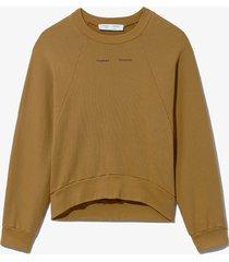 proenza schouler white label logo sweatshirt khaki/brown xl