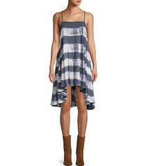 sleeveless printed high-low dress