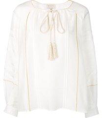 zeus+dione braided tie blouse - white