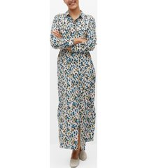mango women's bow shirt dress