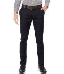 pantalón casual 340 silueta slim fit antiviral para hombre 02024