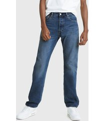 jeans levis 501 '93 straight stick n poke azul - calce regular