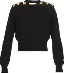 moschino teddy bear cashmere sweater