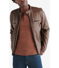 lucky brand men's retro leather jacket