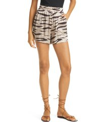 rails leighton pull-on shorts, size large in beige watercolor tiger at nordstrom