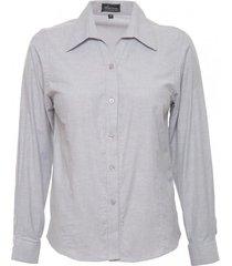 blusa oxford gris claro mujer rossignol