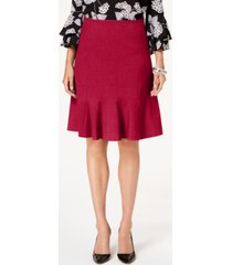 nine west flare-hem pencil skirt