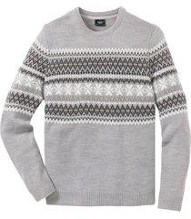 pullover con scollo rotondo (grigio) - bpc bonprix collection