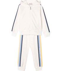moncler cream-colored sport suit