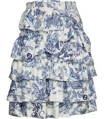 joker print jupe courte kort kjol blå zadig & voltaire