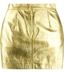 a.n.g.e.l.o. vintage cult 1980s high-waisted mini skirt - gold