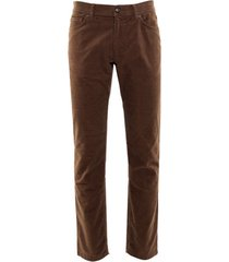 eagle & brown 5-pocket broek corduroy bruin