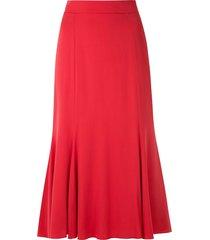 dolce & gabbana godet midi skirt - red