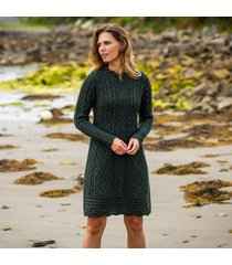 the glenmore army green aran dress xl