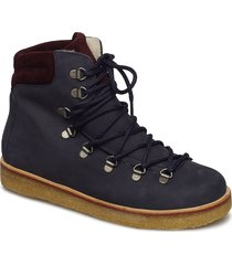 boots - flat - with laces shoes boots ankle boots ankle boots flat heel blå angulus