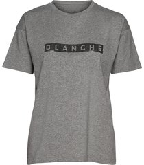 main block t-shirts & tops short-sleeved grijs blanche