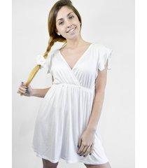 vestido blanco a lo juana cruzado